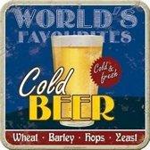 Onderzetters - Cold Beer - Set 5 stuks - 9 x 9 cm