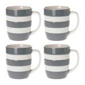 Cornishware Mugs Tin grey 12oz/34cl (set van 4)