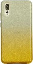 Huawei P20 Semi Glitter telefoonhoesje - Geel