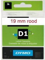 Lettertape Dymo D1 45805 Rood-Wit 19mmx7m
