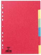 Elba tabbladen uit karton formaat A4 12 tabs 11-gaatsperforatie geassorteerde kleuren