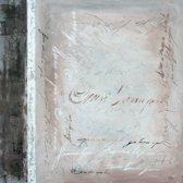 Schilderij 'The End' 100x100cm