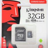Kingston Micro SD Kaart Canvas 32 GB - Class 10 + SD Adapter