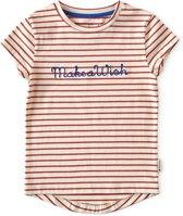 t-shirt meisjes - brick stripe