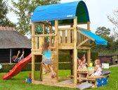 Jungle Gym - Farm Mini Picnic 160 - Houten Speelset voor Buiten - Met Glijbaan - Rood