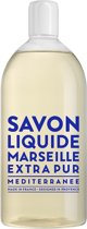 Savon de Marseille vloeibare handzeep Extra Pur Méditerranée 1 liter navulling