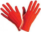 Rode handschoenen kort