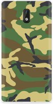 Nokia 3 Hoesje Army Camouflage Green