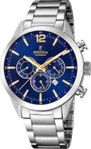 Festina F20343/2 horloge heren - zilver - edelstaal