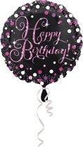 Folieballon Happy Birthday Sparkling Cel