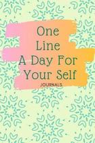 One Line A Day For Your Self Journal: A Daily Gratitude Notebook Journal That Helps You Feel The Best Day Of Your Life Customized Planner Notebook Gif
