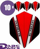 ABC Darts Flights - Ruthless Vision V Rood - 10 sets (30 st.) Dart Flights