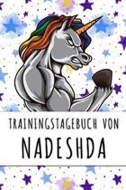 Trainingstagebuch von Nadeshda: Personalisierter Tagesplaner f�r dein Fitness- und Krafttraining im Fitnessstudio oder Zuhause