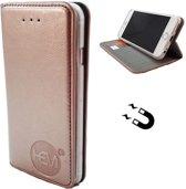 Apple iPhone X/XS - Rose Gold Ultra Dun Portemonnee Hoesje - Lederen Wallet Case TPU - Book Case - Flip Cover - Boek - 360º beschermend Telefoonhoesje