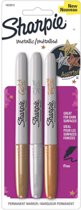 Sharpie fine set metallic - goud, zilver, brons