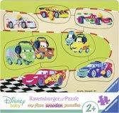 Ravensburger houten puzzel De Disney Cars Familie - 7 stukjes
