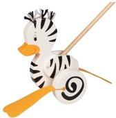 Goki Zebra-duck, push along animal