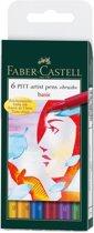 Tekenstift Faber-Castell Pitt Artist Pen 6-delig etui Basic
