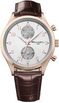 William L. 1985 WLOR02GOCM horloge heren - bruin - edelstaal PVD ros�
