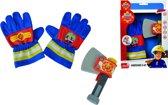 Fireman Sam. Sam Feuerwehr Handschuhe und Axt