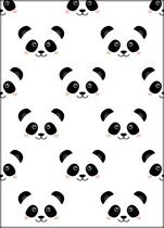 Fabs World ansichtkaart 'Panda faces'