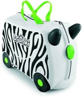 Trunki Ride-On Zebra Zimba Kinderkoffer - 46 cm - Wit/Zwart