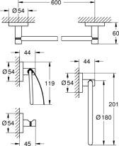 GROHE Essentials badkamer accessoireset 4 in 1 Chroom