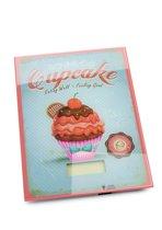 Balvi Keuken Weegschaal Vintage Cupcake - Glas Met Kunststof - Max 5 KG - 1,92x19x15 cm