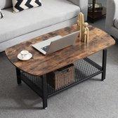 MIRA - Vintage salontafel met een metalen frame