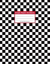 Graph Paper Notebook, 110 Quad Ruled Pages: 80s Black and White Checked Pattern Grid Journal for Math, Science Students and Teachers - Large, 8.5 x 11