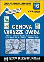 IGC Italien 1 : 50 000 Wanderkarte 16 Genova Varazze Ovada
