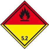 Sticker 'Kl. 5. 2 Org. Peroxide', 500/rol