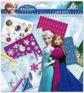 Disney Frozen stickers en sjablonen doeboek.