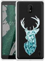 Nokia 1 Plus Hoesje Art Deco Deer