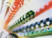 Plastic bindringen 21-rings A4 25mm, per 100 stuks