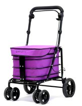 Carlett Lett700 Boodschappentrolley - 32 L - 4 wielen - zitten - opvouwbaar - veiligheidsrem - magenta