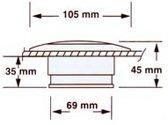 Plafon verlichting 12V 10W Wit (GS10171)
