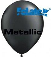 Ballonnen Metallic Zwart 30 cm 25 stuks
