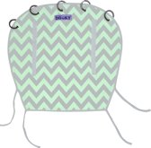 Dooky Universal Cover - Reversible Design - Mint/Grey Chevron