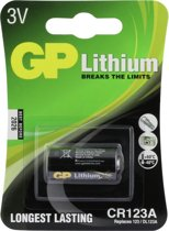 GP CR123A Photo Lithium batterij 3volt