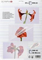 1x25 Olympia lamineerfolie DIN A3 80 micron 9180