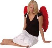 Engelen vleugels rood met veren volwassen