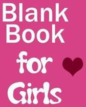 Blank Book for Girls
