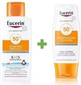 Eucerin Sensitive Protect Kids Sun Lotion SPF50+ & Photoaging Control Sun Lotion Extra Light SPF50+ Promopakket