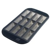 Mastrad Cakevorm Loaf Pan - Mini - Siliconen - Voor 12 stuks - Zwart