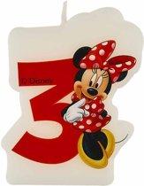 Minnie's Cafe™ verjaardagskaars 3 jaar - Feestdecoratievoorwerp
