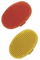 Nobby massageborstel rubber ovaal, met handvat - 1 ST