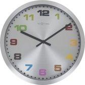 NeXtime Mercure Colour - Klok - Rond - Aluminium - Ø25 cm - Multi