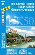 Inn-Salzach-Region, Rupertiwinkel, Östlicher Chiemgau 1 : 50 000