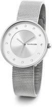 Lambretta Cielo zilver - stones - horloge - 34 mm - mesh - zilver